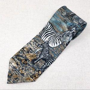 Vintage Zebra Wildlife Tie by Lost Kingdom